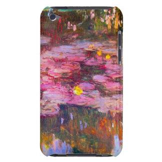 Caja púrpura del tacto de iPod de los lirios de ag iPod Case-Mate Fundas