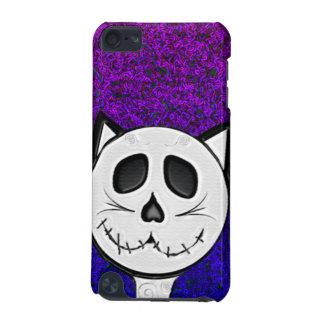 Caja púrpura del tacto de iPod del gato del cráneo Funda Para iPod Touch 5G