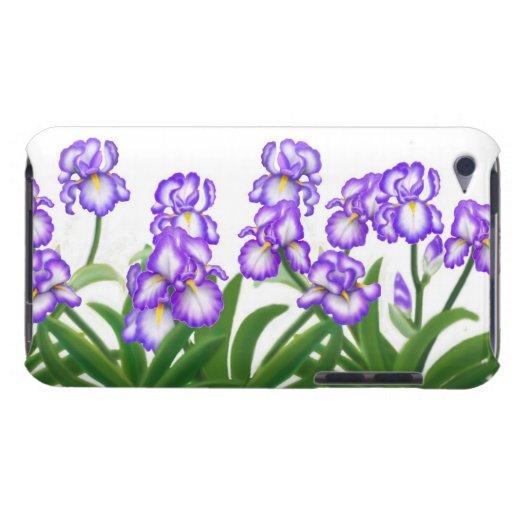 Caja púrpura del tacto de iPod del jardín del iris Barely There iPod Coberturas