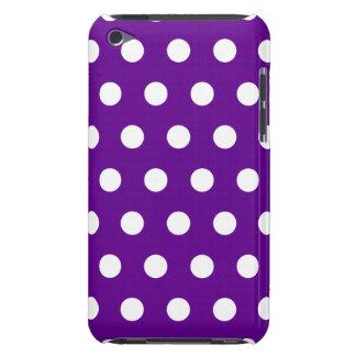 Caja púrpura del tacto de iPod del lunar Case-Mate iPod Touch Protectores