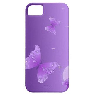 Caja púrpura del teléfono de la mariposa iPhone 5 cárcasas