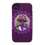 Caja púrpura del teléfono de tres setas iPhone 4/4S carcasas