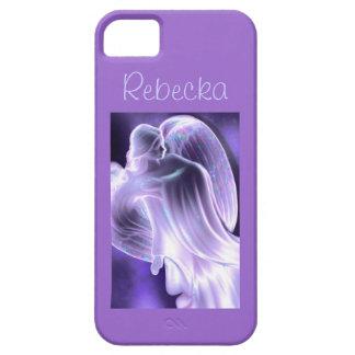 Caja púrpura del teléfono del ángel iPhone 5 cárcasa