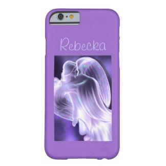Caja púrpura del teléfono del ángel funda de iPhone 6 barely there