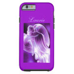 Caja púrpura del teléfono del ángel funda para iPhone 6 tough