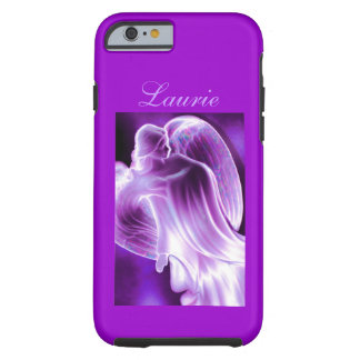 Caja púrpura del teléfono del ángel funda de iPhone 6 tough