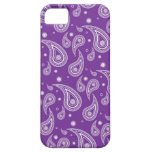 Caja púrpura del teléfono del iPhone 5 de Paisley iPhone 5 Case-Mate Cárcasa