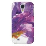 Caja púrpura del teléfono del iris
