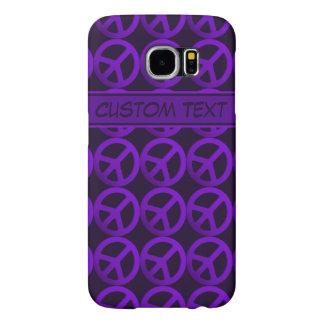 Caja púrpura del teléfono del signo de la paz con funda samsung galaxy s6