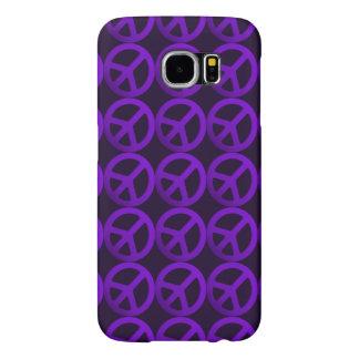 Caja púrpura del teléfono del signo de la paz funda samsung galaxy s6