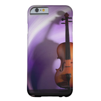 Caja púrpura del teléfono del violín funda de iPhone 6 barely there