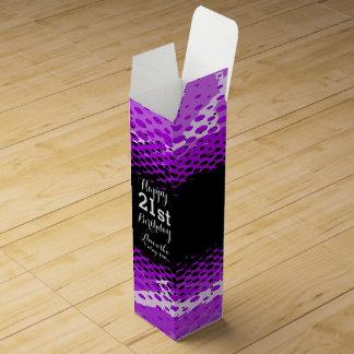 Caja púrpura del vino del girlie del 21ro cajas para botellas de vino