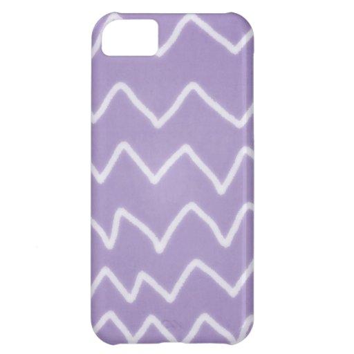 Caja púrpura del zigzag hecho a mano funda para iPhone 5C