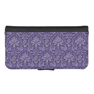 Caja púrpura elegante del teléfono de la cartera fundas tipo billetera para iPhone 5