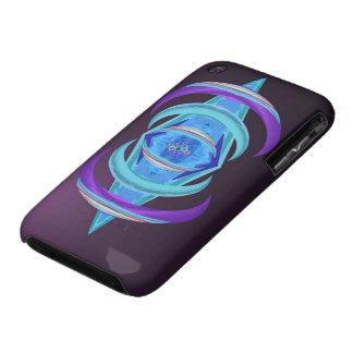 Caja púrpura en colores pastel de Dharma iPhone3 Case-Mate iPhone 3 Coberturas