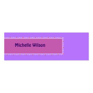 Caja púrpura en colores pastel de la MOD del rosa Tarjetas De Visita Mini
