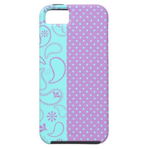 Caja púrpura enrrollada del iphone 5 de los lunare iPhone 5 Case-Mate coberturas