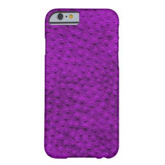 Caja púrpura exótica del iPhone 6 del cuero de la Funda Para iPhone 6 Barely There