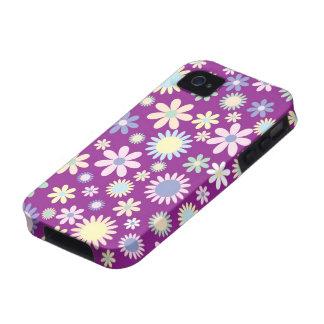 Caja púrpura floral del iphone 4 de la flor de la  iPhone 4 carcasas