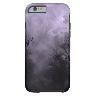 Caja púrpura frecuentada del iPhone 6 de la niebla Funda De iPhone 6 Tough