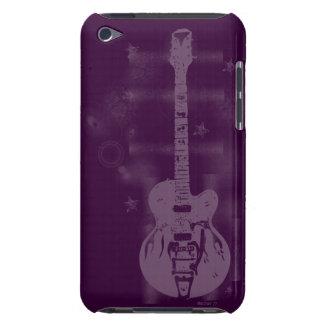 Caja púrpura gráfica de iPod de la guitarra iPod Touch Protectores