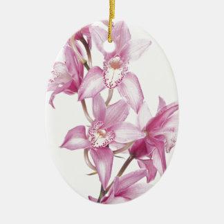 Caja púrpura hermosa de la orquídea adorno de reyes