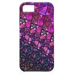 Caja púrpura hermosa del modelo del vitral iPhone 5 protector