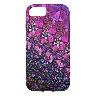 Caja púrpura hermosa del modelo del vitral funda iPhone 7