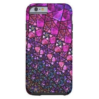 Caja púrpura hermosa del modelo del vitral funda resistente iPhone 6