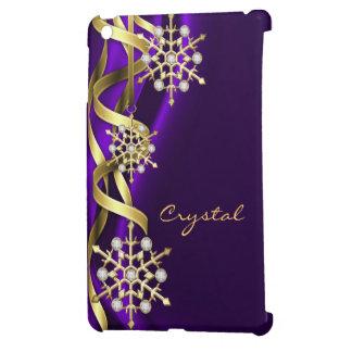 Caja púrpura Jeweled de Ipad del copo de nieve