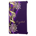 Caja púrpura Jeweled de Ipad del copo de nieve chi iPad Mini Protector