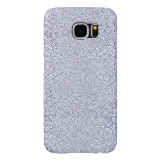 Caja púrpura linda de la galaxia de Samsung del Fundas Samsung Galaxy S6