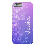 Caja púrpura mágica geométrica del iPhone 6 Funda De iPhone 6 Barely There