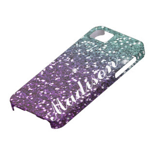 Caja púrpura personalizada del brillo IPhone5 del  iPhone 5 Case-Mate Protector