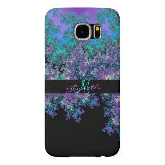 Caja púrpura personalizada del fractal S6 del oro Fundas Samsung Galaxy S6