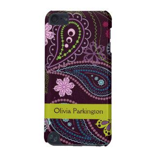Caja púrpura personalizada del tacto de Paisley iP