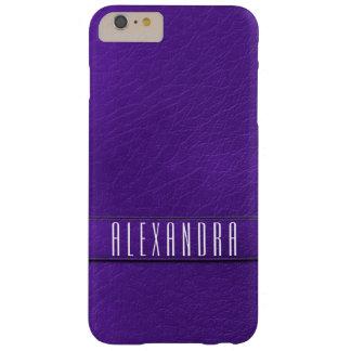 Caja púrpura personalizada del teléfono de la funda de iPhone 6 plus barely there