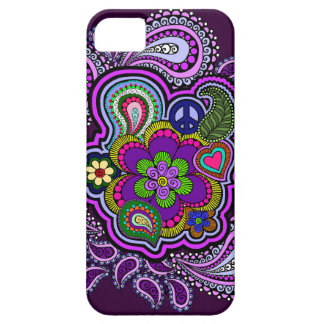 Caja púrpura psicodélica del teléfono de Paisley iPhone 5 Coberturas