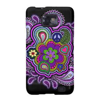 Caja púrpura psicodélica del teléfono de Paisley Galaxy S2 Fundas