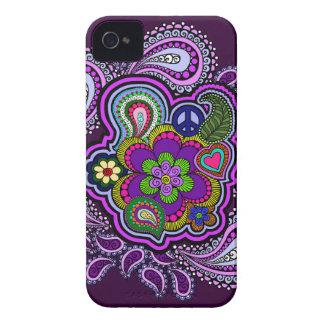 Caja púrpura psicodélica del teléfono de Paisley Case-Mate iPhone 4 Carcasa