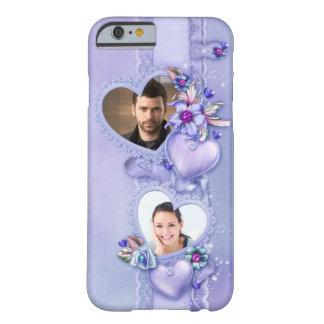 Caja púrpura romántica del iPhone 6 de los Funda Barely There iPhone 6