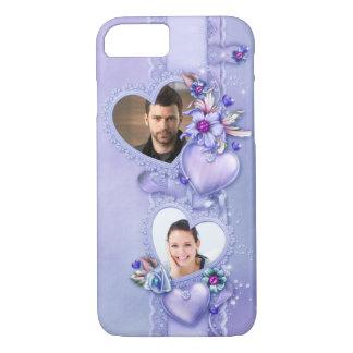 Caja púrpura romántica del iPhone 7 de los Funda iPhone 7