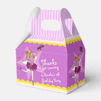 Caja púrpura rosada del favor del cumpleaños de la cajas para regalos de fiestas