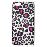 Caja púrpura rosada enrrollada del iPhone del leop