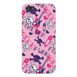 Caja púrpura rosada femenina del iPhone 5 del punk iPhone 5 Carcasas