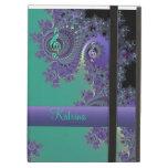 Caja púrpura verde personalizada del iPad del frac