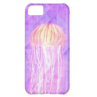 Caja púrpura violeta del iPhone 5 de las medusas a Funda Para iPhone 5C