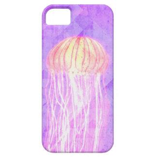 Caja púrpura violeta del iPhone 5 de las medusas iPhone 5 Fundas