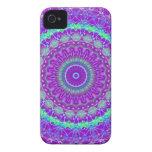 Caja púrpura viva del iPhone 4 del caleidoscopio d Case-Mate iPhone 4 Carcasa