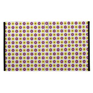 Caja púrpura y amarilla de las flores